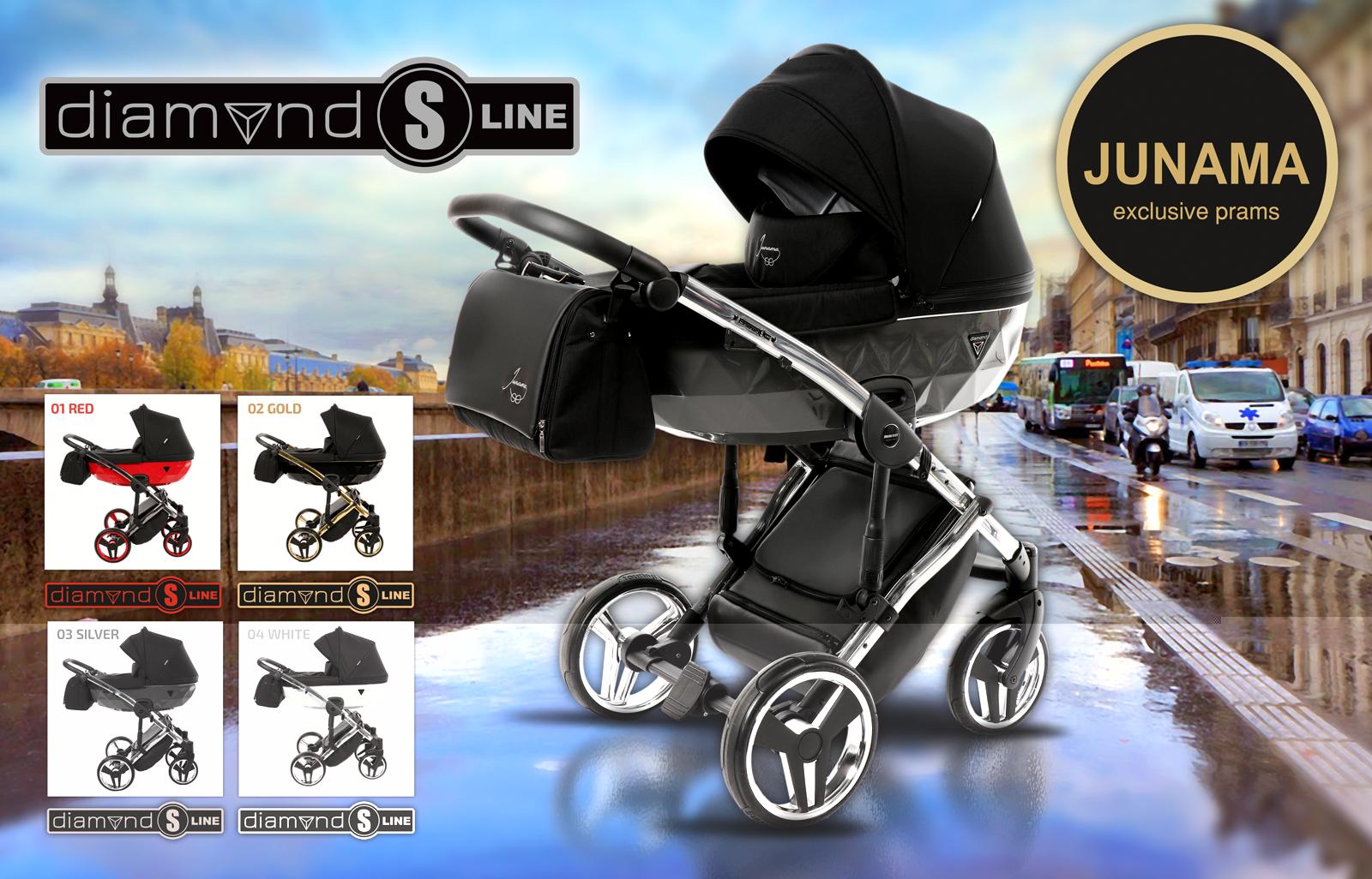 Коляска Junama Diamond S-Line - лучшая коляска с уникальным дизайном!